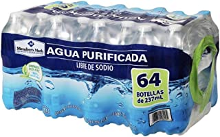 AGUA NATURAL PURIFICADA EMBOTELLADA MEMBERS MARK PAQUETE DE 64 BOTELLAS DE 237 ML C/U OFICINA CASA NEGOCIO HIDRATACION