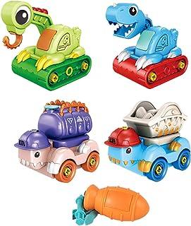 yeesport Dinosaur Vehicle Playset Educational Plastic Assembled Dinosaur Truck for Kids Dinosaur Vehicle Toys Dino Truck T...