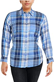 Ralph Lauren Lauren Plaid Twill Cotton Shirt Blue Multi S
