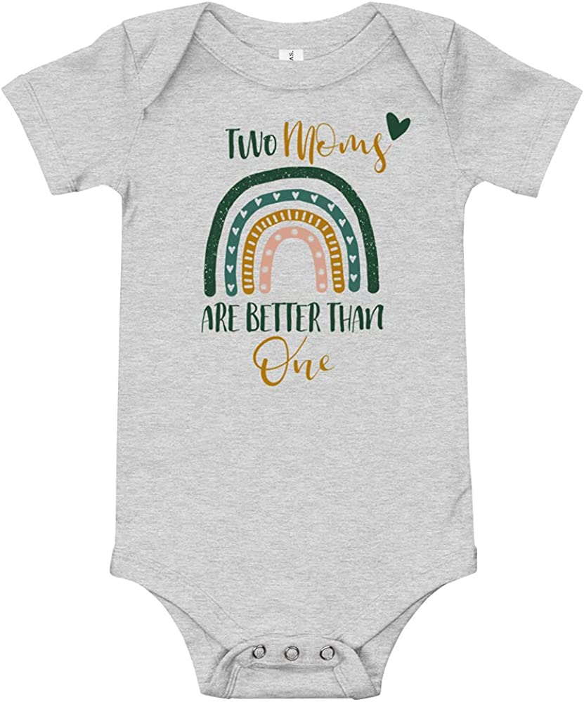 Two Moms are Better Than One LGBT baby clothes Lesbian Pregnancy gift announcement