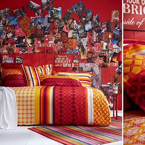 Essix - Drap Plat Destination Satin de coton Multicolore 240 x 300 cm