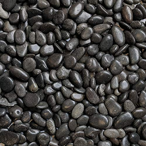 Midwest Hearth Natural Decorative Polished Black Pebbles