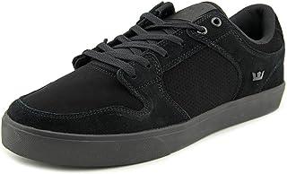Supra Vaider LC Mens Size 7.5 Black Suede Skate Shoes UK 6.5 EU 40.5