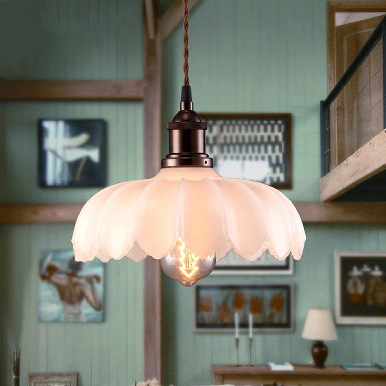 WENYAO Die Erntezeit Einfache Retro Light Lotus Kronleuchter Restaurant Glaslampen -E27 Glühbirne  40W