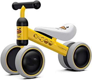 Newest Balance Bike, Child Walker Push Ride on Toy with 4 Wheels, Ages 12-36 Months Toddlers Kids First Birthday Gift