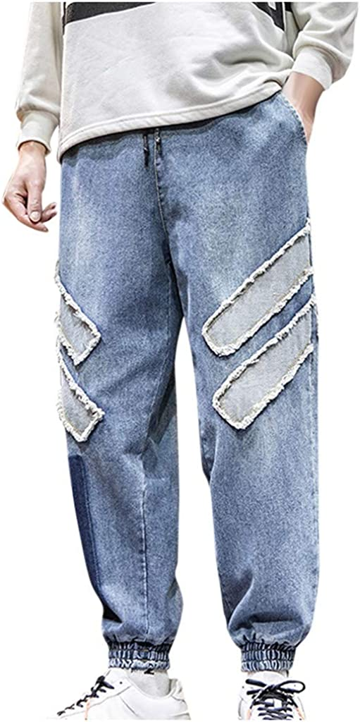 Plus Size Mens Max 60% OFF Loose Denim Pants Big Tall Hop Hip Casual Gorgeous