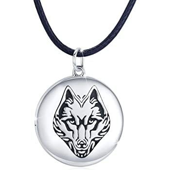 Jewels Obsession Tiger Head Necklace Rhodium-plated 925 Silver Tiger Head Pendant with 18 Necklace