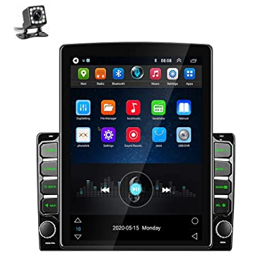 Double Din Car Stereo Android Head Unit 9.7 Inch Car Radio with GPS Car Entertainment Multimedia Player FM Radio WiFi/Bluetooth Tethering Internet, Dual USB Input + Backup Camera