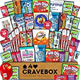 CraveBox Care Package (50 Count) Snacks Food Cookies Granola Bar Chips Candy Ultimate Variety Gift Box Pack Assortment Basket Bundle Mix Bulk Sampler Treats College Students Office Staff Christmas