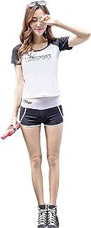 (ヤヌーク?ゴラ)Yanuku Go La 水着 レディース ラッシュガード 長袖 タンキニ 3点 セット 体型カバー 紫外線防止