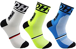 جوارب رجالي لركوب الدراجات الجوارب الرياضية قابلة للتنفس للجنسين للجري والركض والرياضيين لكرة السلة