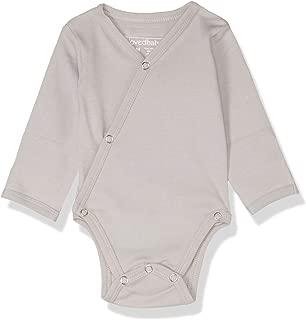 Lovedbaby Baby-Boys Organic Kimono Bodysuit, Light Gray