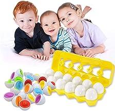 Juguetes para niños Juego de huevos a juego de colores Habilidades educativas de reconocimiento de números y colores Aprendizaje de juguetes Clasificación de huevos Regalos para niños 1 2 3 4 5 años