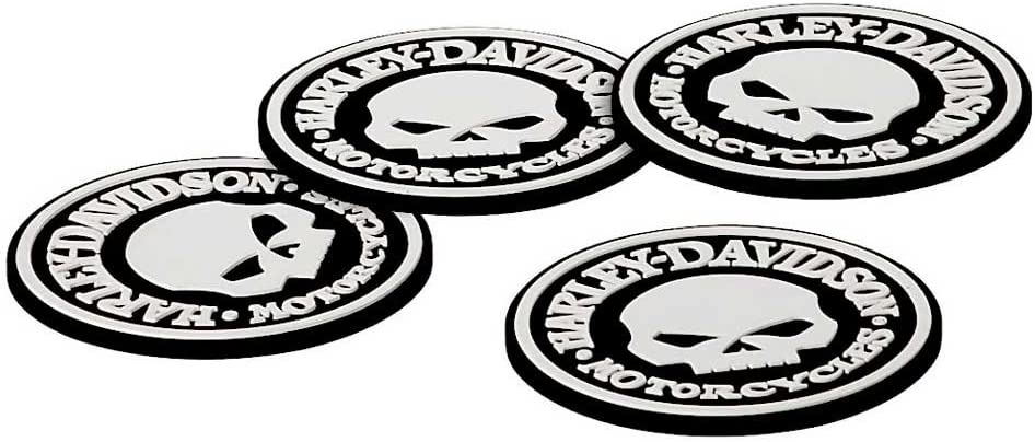 Harley-Davidson Skull Coasters Set Spasm price HDL-18522 - Free shipping on posting reviews 4 Rubber