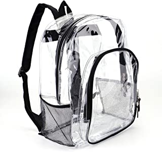 Heavy Duty Transparent Clear Backpack See Through Backpacks for School,Sports,Work,Stadium,Travel