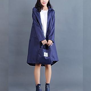 XRXY 女性ファッションアダルトレインコート/ハイキングサイアムロングセクションポンチョ/防水通気性屋外観光ウインドブレーカー/自己栽培レインコート ( 色 : E , サイズ さいず : L l )