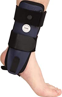 VELPEAU Ankle Brace - Stirrup Ankle Splint - Adjustable Rigid Stabilizer for Sprains, Strains, Swelling and Inflammation, Post-Op Cast Support and Injury Relief