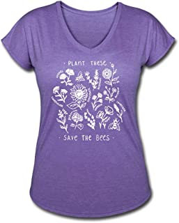 Plant These Save The Bees Women's Tri-Blend V-Neck T-Shirt