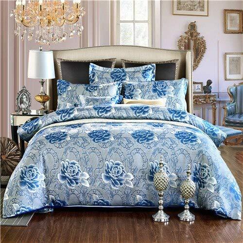 Stephen Bedding Sets - european bedding set jacquard stain bed set bed cover spring sheet 4pcs/set queen king duvet set cover bed bedclothes 1 PCs