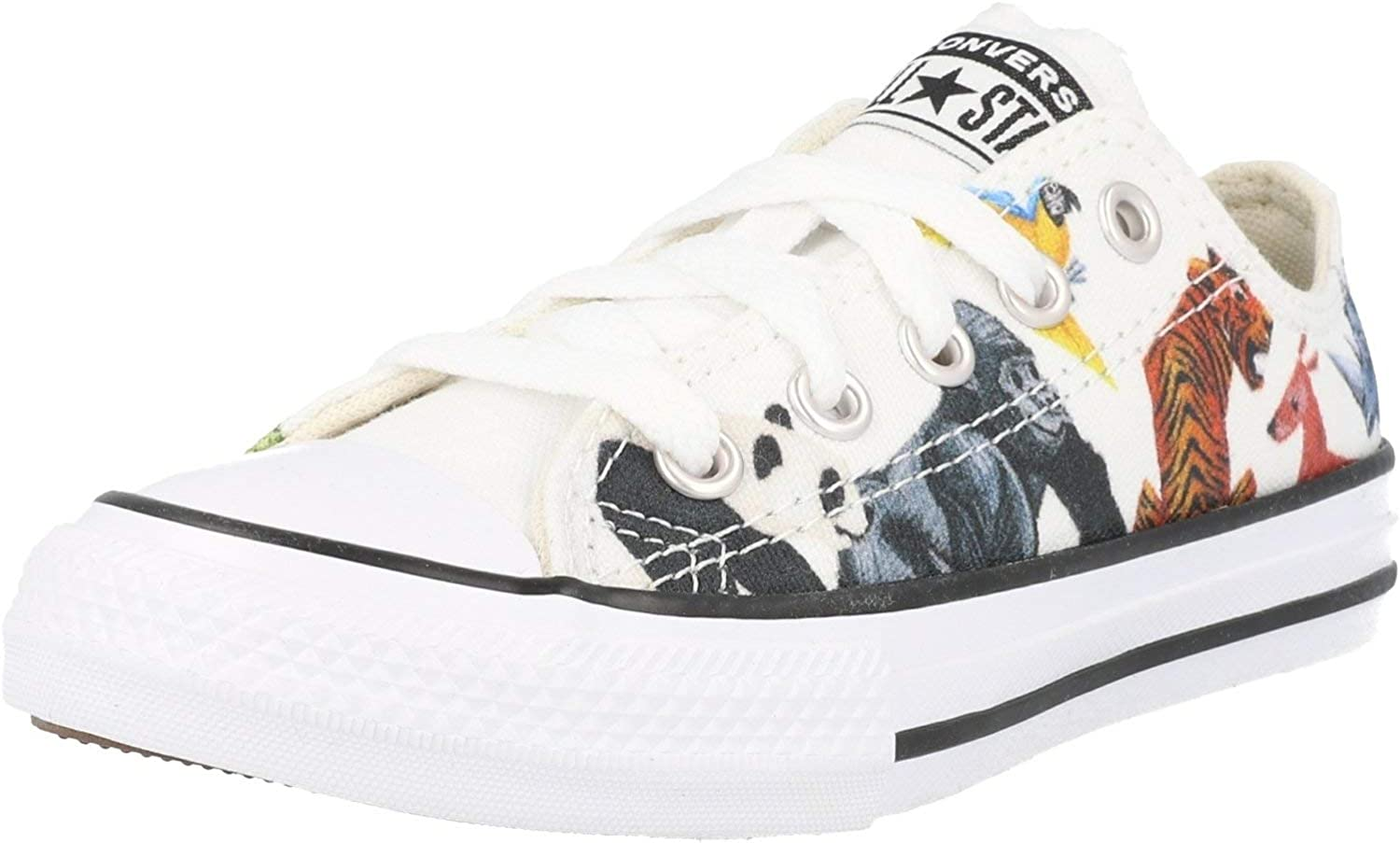 Converse Chuck Taylor All Star Science Class Ox White/Black Canvas Junior Trainers Shoes