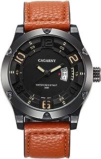 Beautiful Watches, 6858 Fashion Dual Quartz Movement Wrist Watch with Leather Band