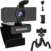 1080P Webcam with Mini Tripod Kits, NexiGo FHD USB Web Camera with Microphone and Privacy Cover, Extendable Tripod Stand, ...