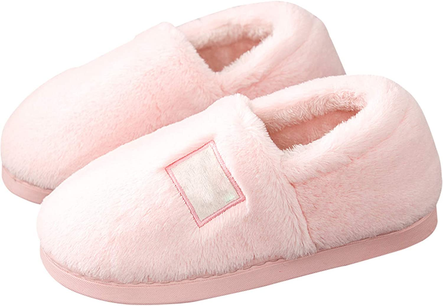 Cute Women's Closed Toe Slippers Autumn Winter Warm Comfortable shoes Indoor House Bedroom Slippers,Pink