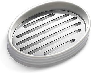 simpletome 石鹸皿 陶器のソープディッシュ 乾燥し続ける 優れた防錆316ステンレス鋼