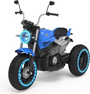 HOVERHEART Kids 3 Wheels Electric Tricycle Ride on Motorcycle 6V Battery Powered (Blue)
