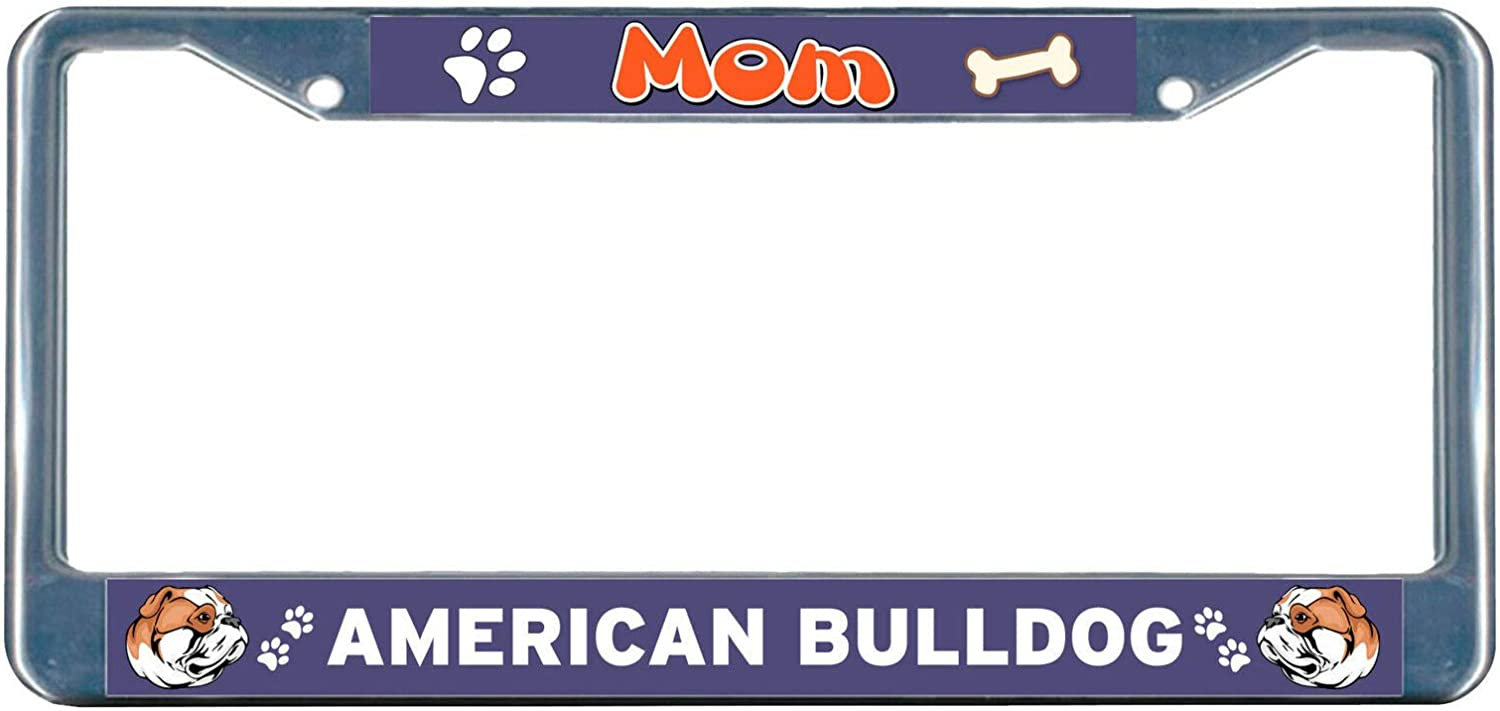 Lowest price challenge Bombing free shipping from ShopForAllYou Frame American Bulldog Dog Chrome Mom L Metal