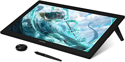 HUION Kamvas Pro 24 4K UHD Graphics Drawing Tablet with Full-Laminated Screen Anti-Glare Glass 140٪ sRGB-بدون باتری Stylus 8192 Pen Pressure و KD100 Wireless Express Keys، 23.8 اینچ مشکی