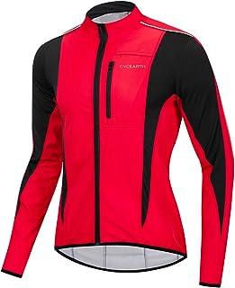 Cycearth Winter Warm UP Thermal Softshell Cycling Jacket Windproof Waterproof