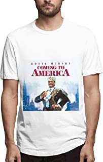 Man Coming to America Simple Casual Round Neck Shirts