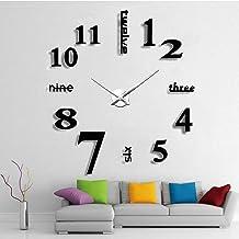 ساعة الحائط Gayrnel DIY DIY كبيرة الحديثة 3D بدون إطار DIY ساعة الحائط - سهلة التجميع تصميم عصري غرفة المعيشة ديكور الحائط...