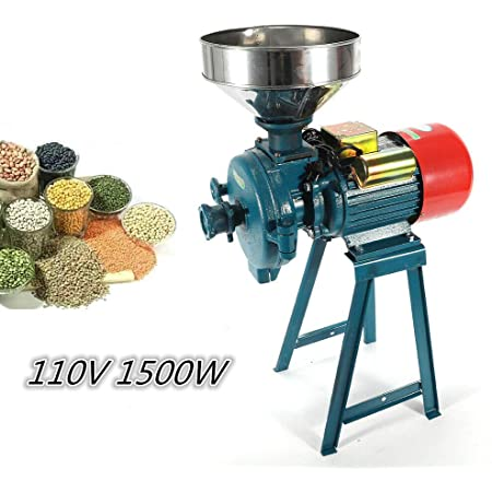 Electric Wet//Dry Mill Machine Grinder Grinding For Wheat Flour Corn Grain 110V
