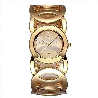 Gosasa Women's FMDJM117 Gold-Tone Watch with Link Bracelet