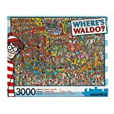 AQUARIUS Where's Waldo (3000 Piece Jigsaw Puzzle) - Officially Licensed Where's Waldo Merchandise & Collectibles - Glare Free - Precision Fit - Virtually No Puzzle Dust