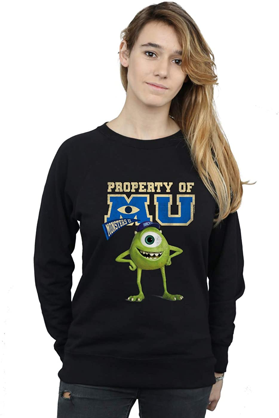 Disney Women's Monsters SALENEW very popular! University Cash special price Property Of Mike MU Sweatshir