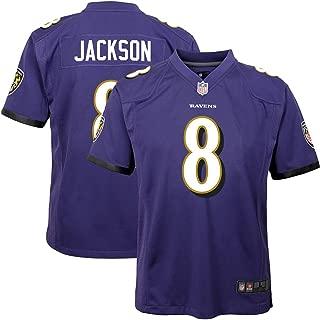 Outerstuff Youth Kids Baltimore Ravens 8 Lamar Jackson Football Jersey