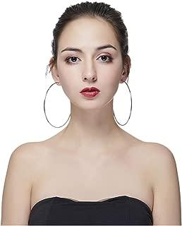 Hypoallergenic Extra Large Basketball Hoop Earrings for Women Men - Big Thin Hoop Earrings
