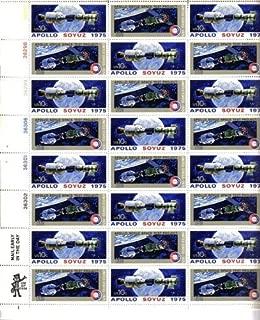 USPS 1975 Apollo-Soyuz Mission Full Sheet of 24 x 10 Cent Stamps Scott 1569-70