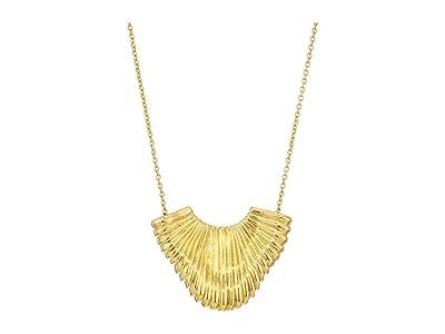 SOLE / SOCIETY 18 Metal Pendant Necklace (12K Soft Polish Gold) Necklace