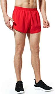 Best mens red running shorts with white trim Reviews