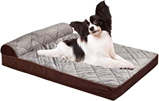 Auboa Large Dog Bed for Small, Medium, Large Dogs/Cats Mat Two Styles Removable and Washable Cover, Orthopedic Memory Foam...