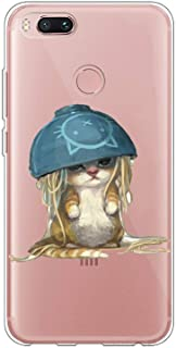 Matop Compatible for Xiaomi Mi 5X / Mi A1Case Protective Soft TPU Bumper Shock Absorption Cover Protector Frog Crystal Clear Anti-Scratch Slim Thin for Xiaomi Mi 5X / Mi A1 (Poor cat)