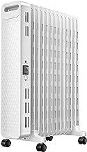 AIOEJP 2KW Calefactor Radiadores Eléctricos Portátiles Ruedas Giratorias Independientes Protección contra Sobrecalentamiento Ultraplano