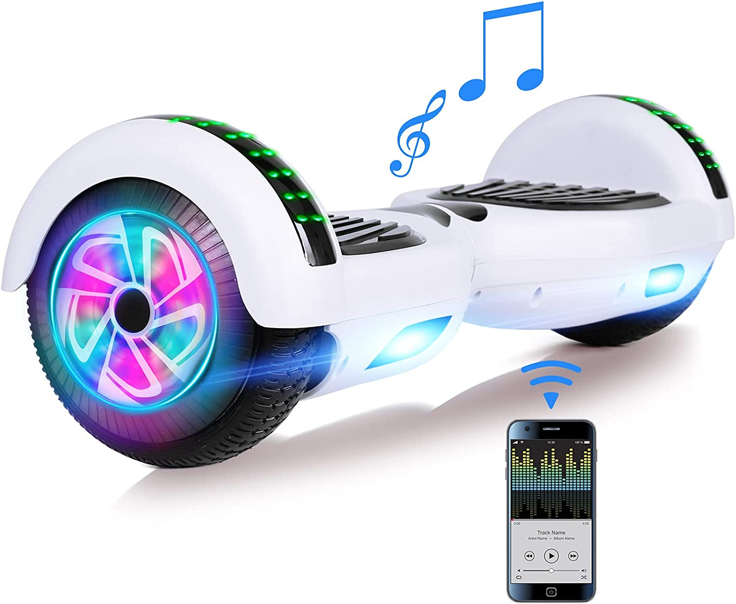 FLYING-ANT Hoverboard Hoverboards for Kids Speak 希望者のみラッピング無料 with 激安超特価 Bluetooth