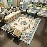 Alfombra Alfombra Dormitorio Juvenil Alfombra de diseño Floral Azul grisáceo Antideslizante y fácil de Limpiar Alfombra recibidor alfombras Infantiles Lavables 160X230CM
