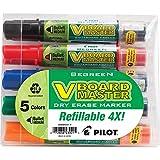 Pilot Corporation 43921 Whiteboard Marker, Refillable, Medium Bullet Pouch, Ast