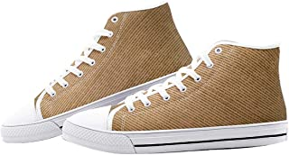 Schmitz Unisex High Top Canvas Sneakers for Men Women Lace Up Casual Shoes